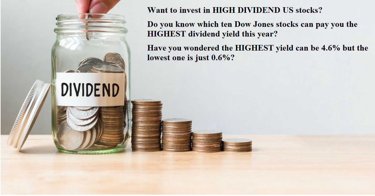 Which TEN Dow Jones Stocks can give you the HIGHEST dividend yield? [2018]